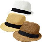 パナマ帽風ハット(全3色)