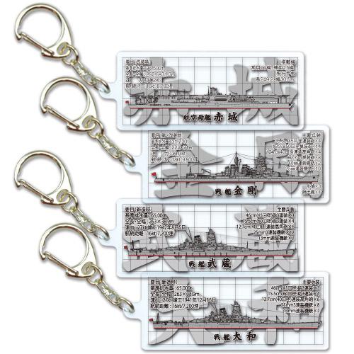 プレートキーホルダー 大日本帝国海軍(全4種)