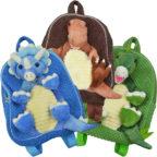 モコモコ恐竜おんぶリュック(全3種)