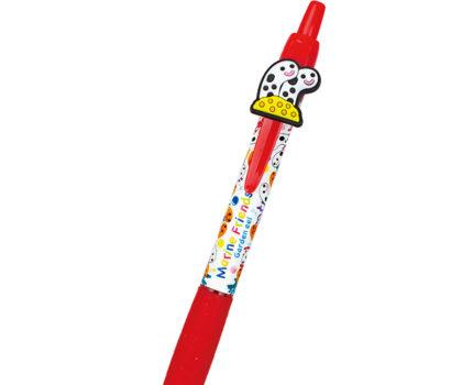 マスコットゲルボールペン チンアナゴ&ニシキアナゴ:チンアナゴ(赤)