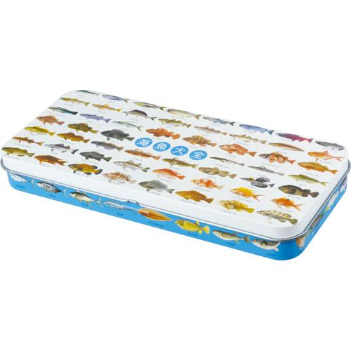 海魚大全 缶ペンケース
