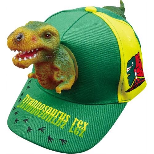 グィーンと飛び出す3Dキャップ恐竜(大人用/子供用)
