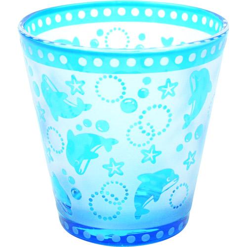 サンドブラストグラス:イルカ