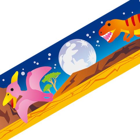 マスキングテープ:A002:恐竜夜