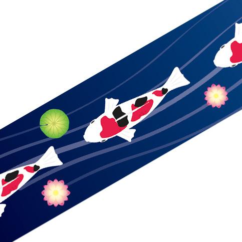 マスキングテープ:M017:鯉と蓮