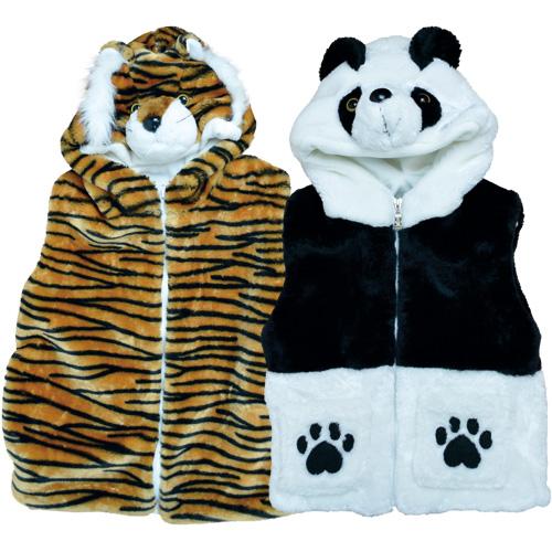 ふわふわアニマルベスト(全2種):トラ