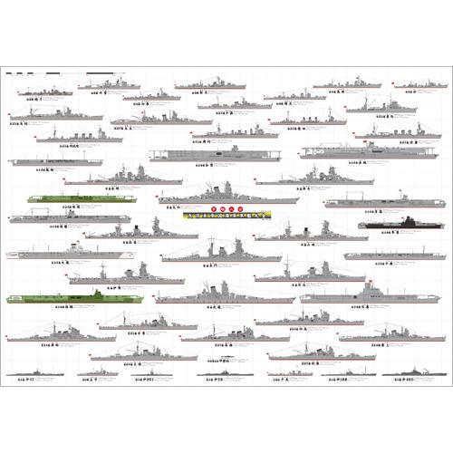大日本帝国海軍 軍艦大全 A1ポスター