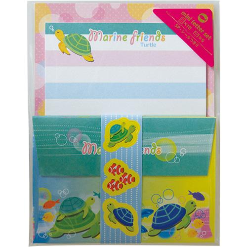 ミニレターセット:海亀と魚