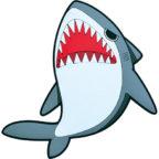 PVCフックマグネット:サメ