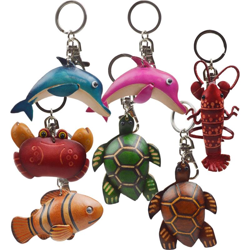 海のなかまのレザーキーホルダー(全7種)
