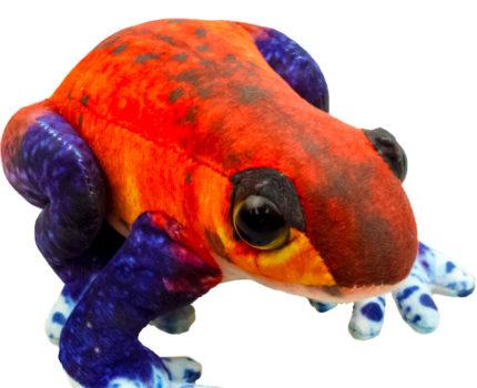 プリントぬいぐるみ カエル:イチゴヤドクガエル