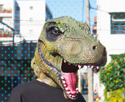 なりきりマスク 恐竜:ティラノサウルスグリーン