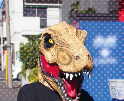 なりきりマスク 恐竜:ティラノサウルスブラウン