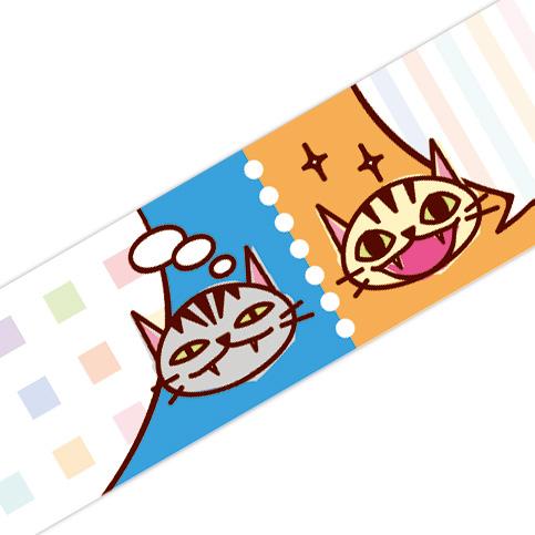 マスキングテープ:A018:おしゃべりネコ