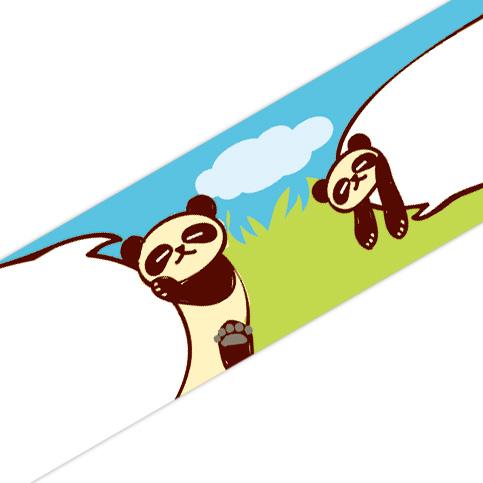 マスキングテープ:A022:ぷにぷにパンダ